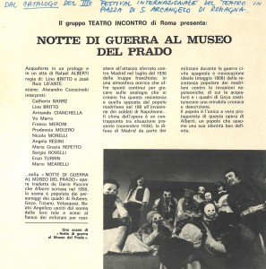 Notte di guerra al museo del Prado